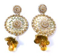 Huge Bollywood Style Drop Earrings.